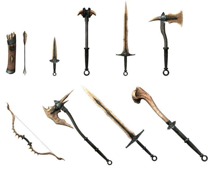 Dragonbone Weapons Skyrim Weapons Weapons Sword Fantasy Weapons