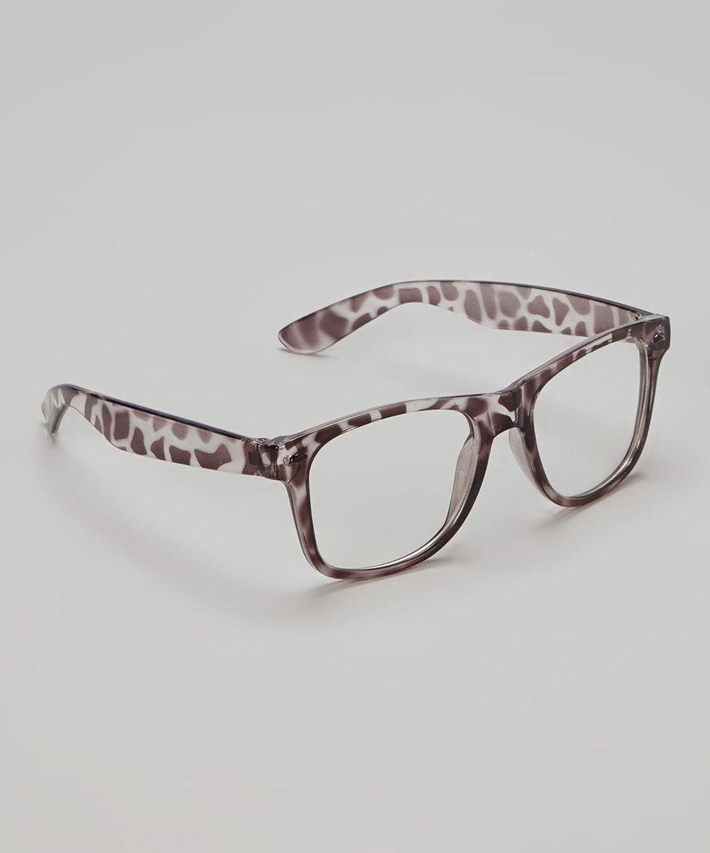 Black Leopard Geek Glasses