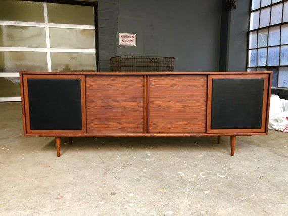 On Hold Danish Modern Rosewood Credenza W Black Leather Etsy Low Sideboard Small Living Room Decor Danish Modern