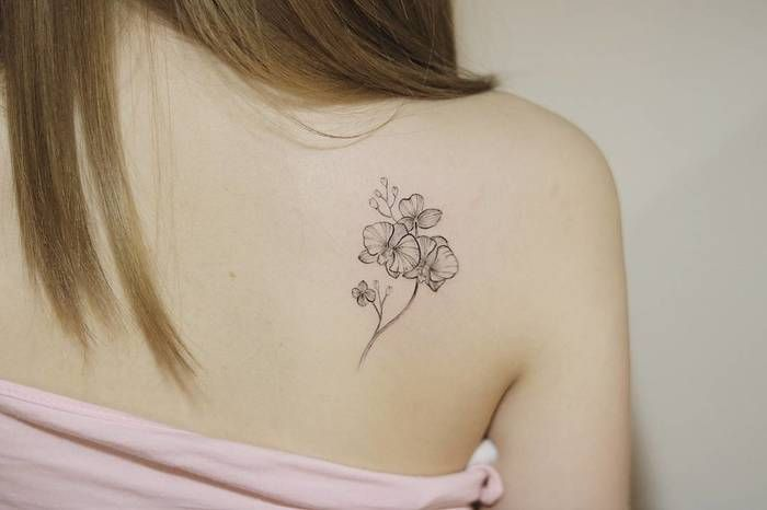 373c3b288 30 Gorgeous Orchid Tattoo Designs and Ideas   Floral Tattoos ...