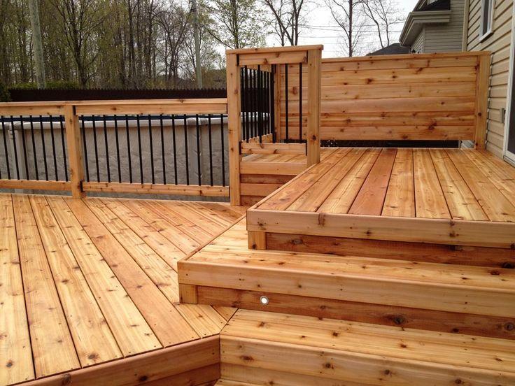 Com rampe balcon bois traité des idées 149 14 alain belleau patio