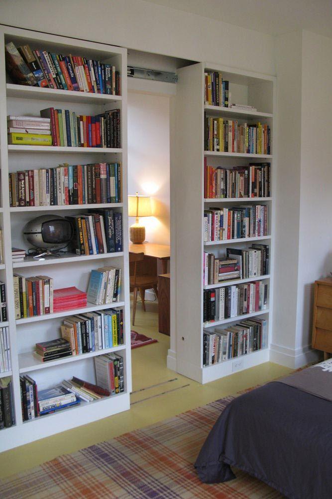 27 Best Room Dividers Extremely Useful For Your Home Home Bookshelf Room Divider Hidden Rooms Bookshelf room divider with door