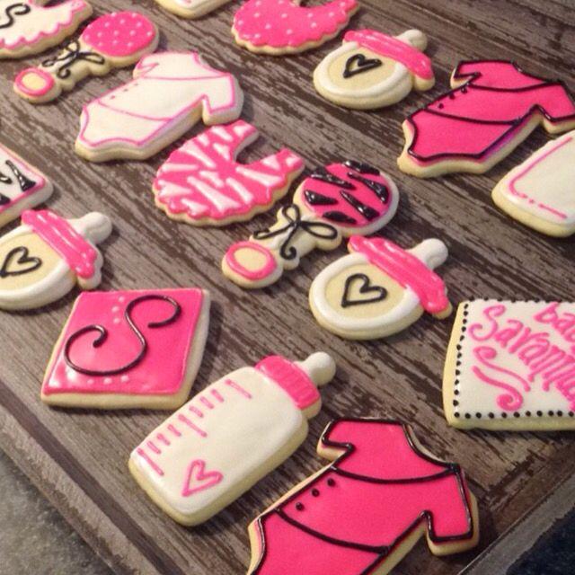 Zebra themed baby cookies!