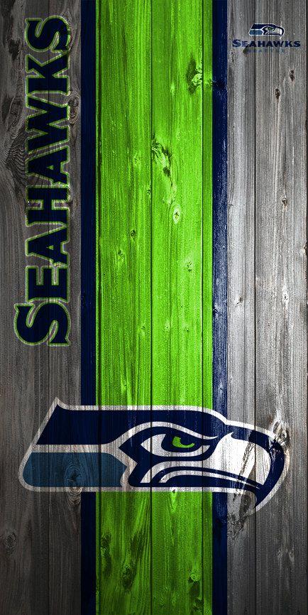 CUSTOM VINYL Cornhole Boards DECALS Seattle Seahawks Wood Bag Toss - Custom vinyl decals for wood