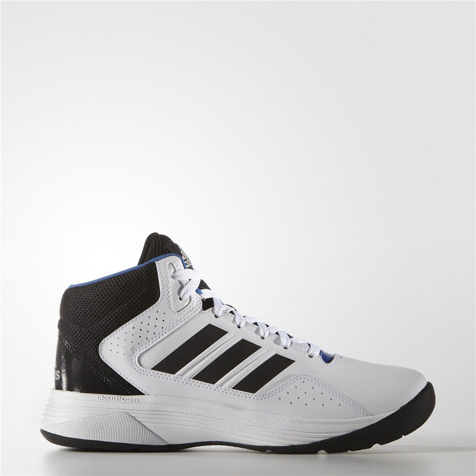 Adidas Cloudfoam Ilation Mid Shoes (Running White Ftw / Black / Matte  Silver)