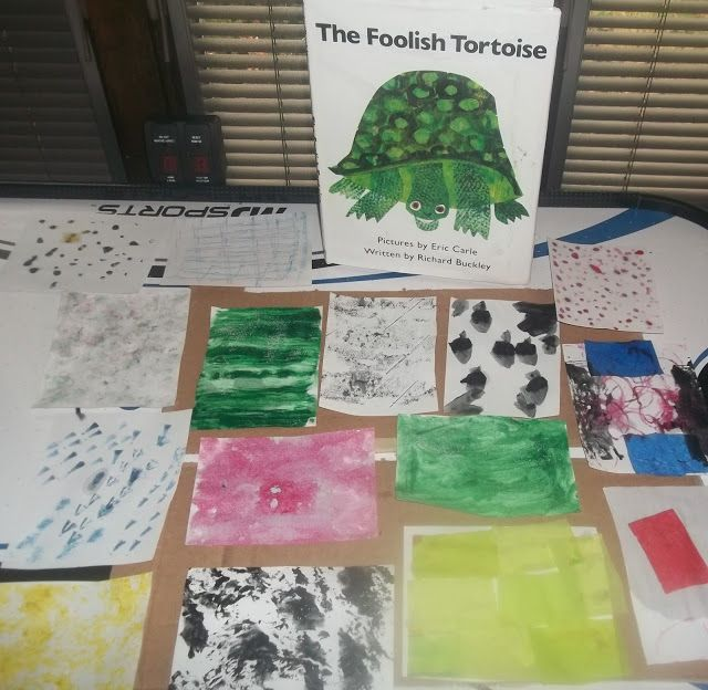 Homeschool Art use The Foolish Tortoise an Art and Writing Prompt Eric Carle
