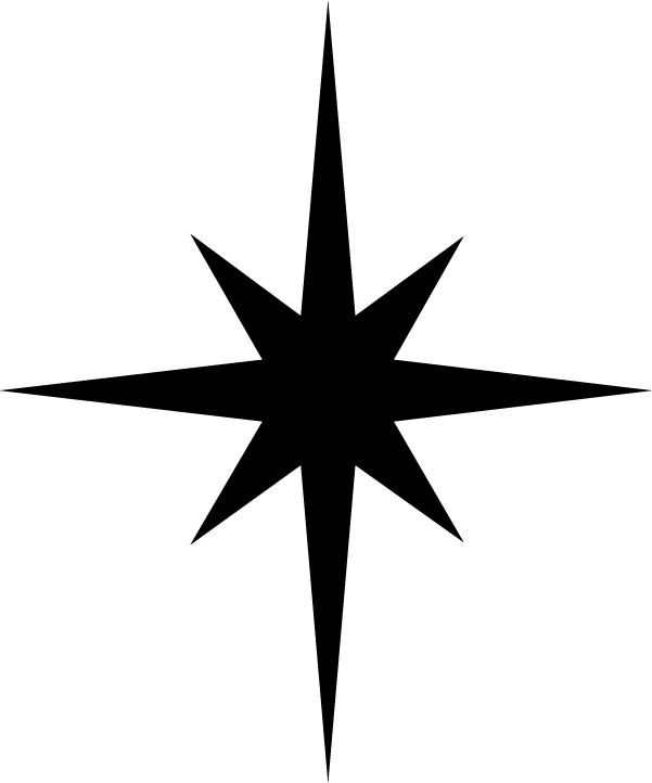christmas star silhouette - Google Search | North Stars ...