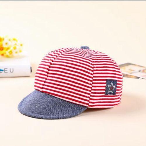 627a374089e Baby Boy Autumn Hats Striped Soft Cotton Eaves Baseball Cap Sun Hat Beret  Sunhat