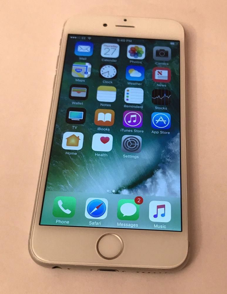 Apple iPhone 6 16GB Silver (Unlocked) Smartphone Very