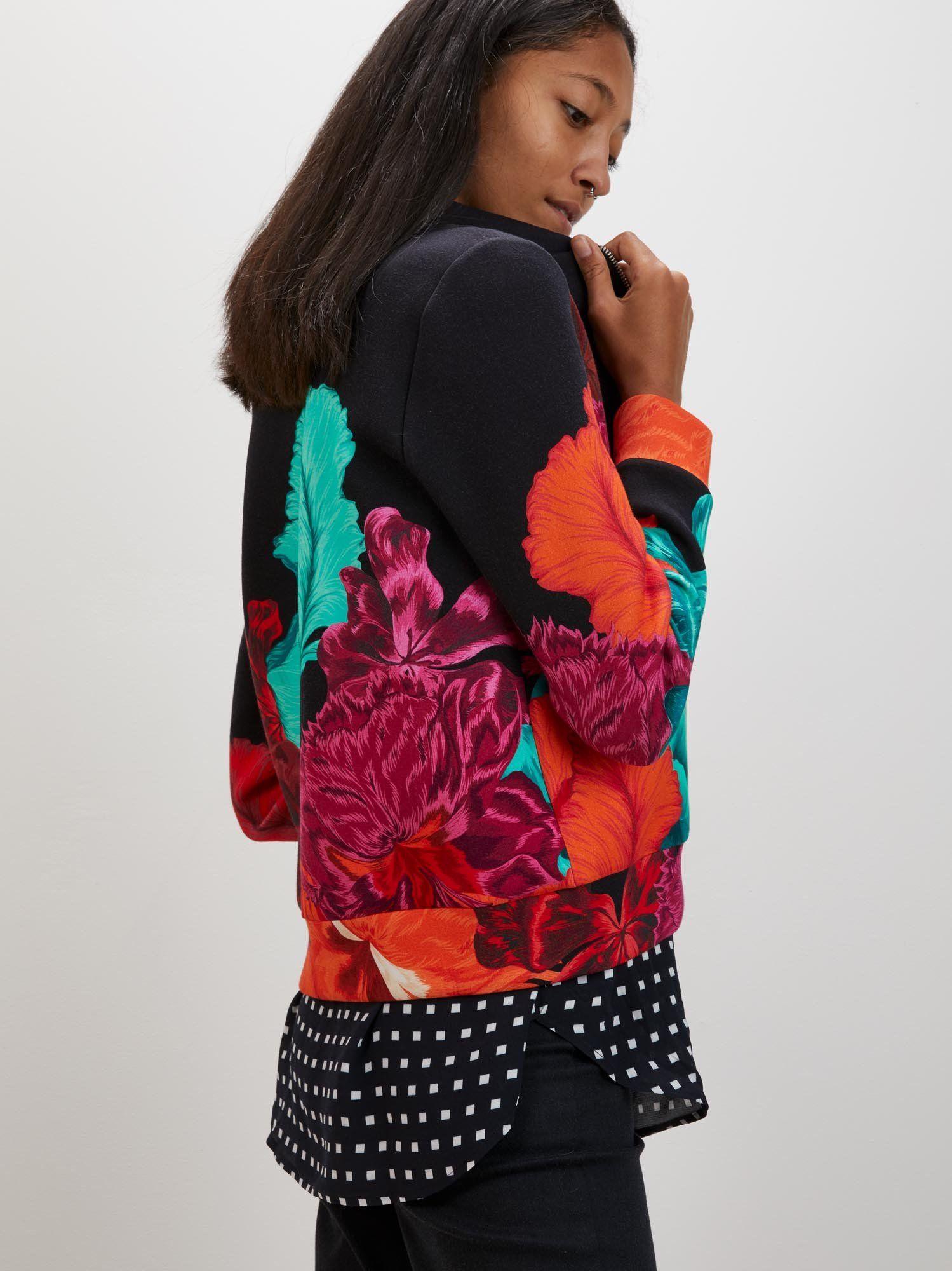 Bomber Cardigan Multi Iris Fashion, Winter jackets