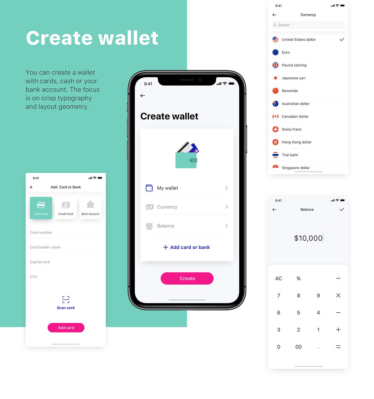 Wallet app on Behance