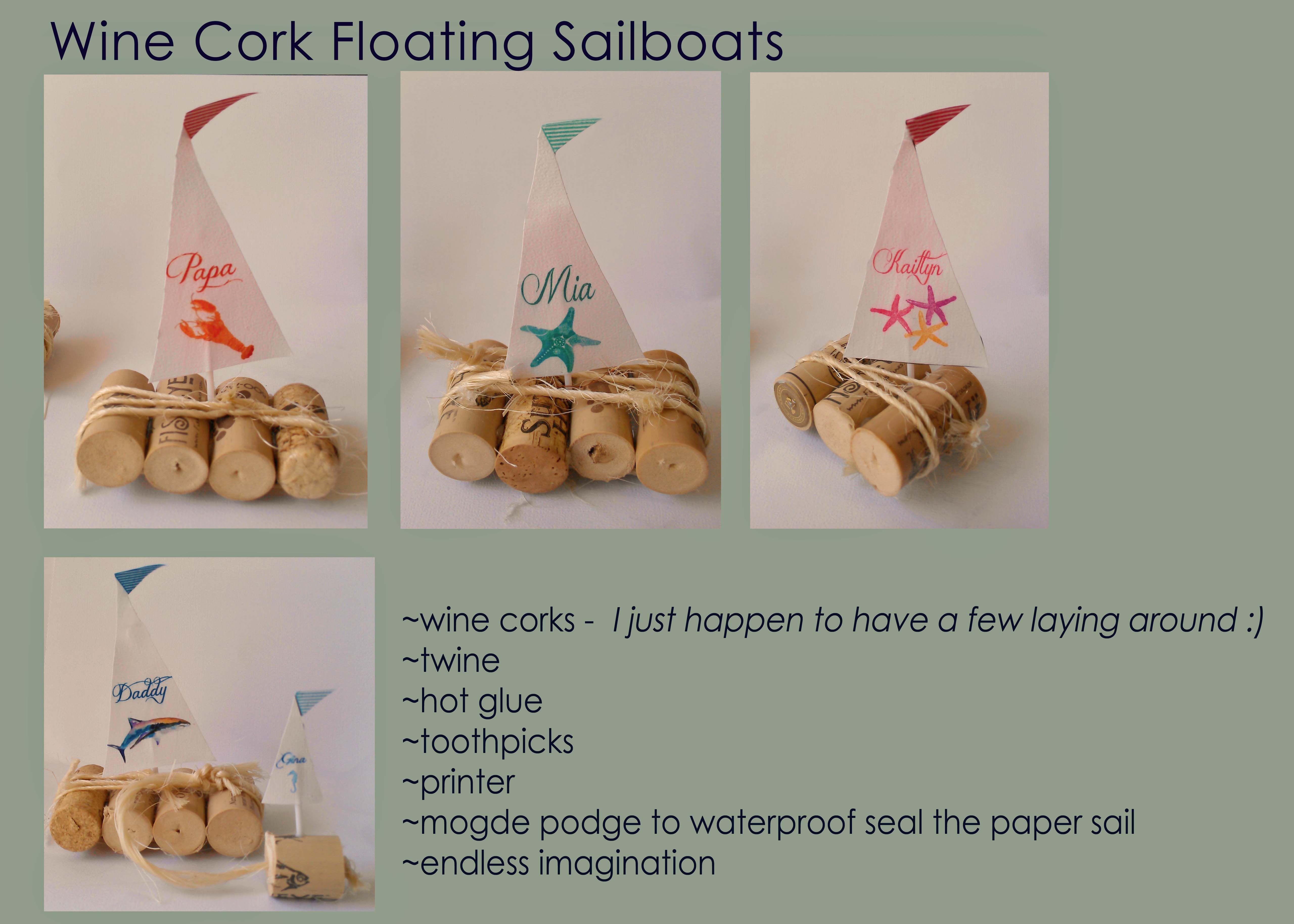 Wine cork boat wine cork crafts my little creations for Wine cork crafts