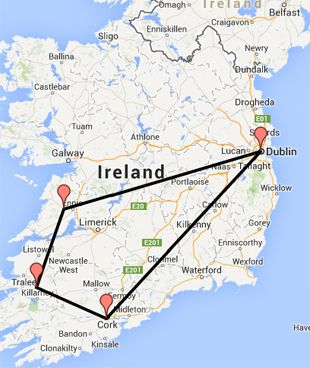 Full Map Of Ireland.Full Irish Map Places To Go Things To Do Pinterest Jameson
