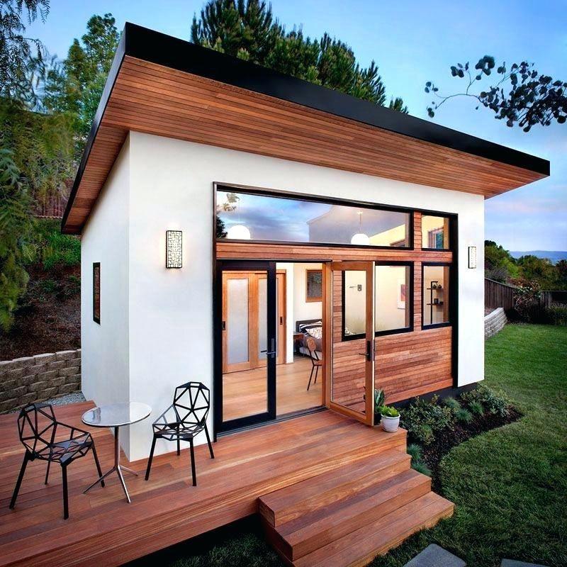 Simple Mid Century Modern Tiny House Home Houston