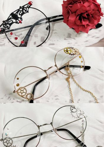 Gothic punk medieval glassesgothic accessory outfit