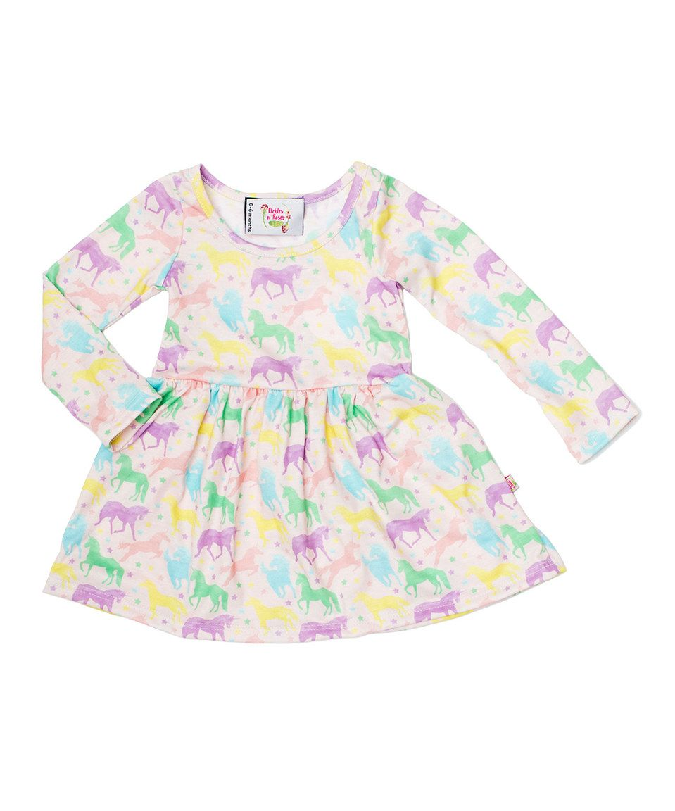 6904ce0e5082 Loving this Purple & Yellow Unicorn A-Line Dress - Infant & Toddler on  #zulily! #zulilyfinds