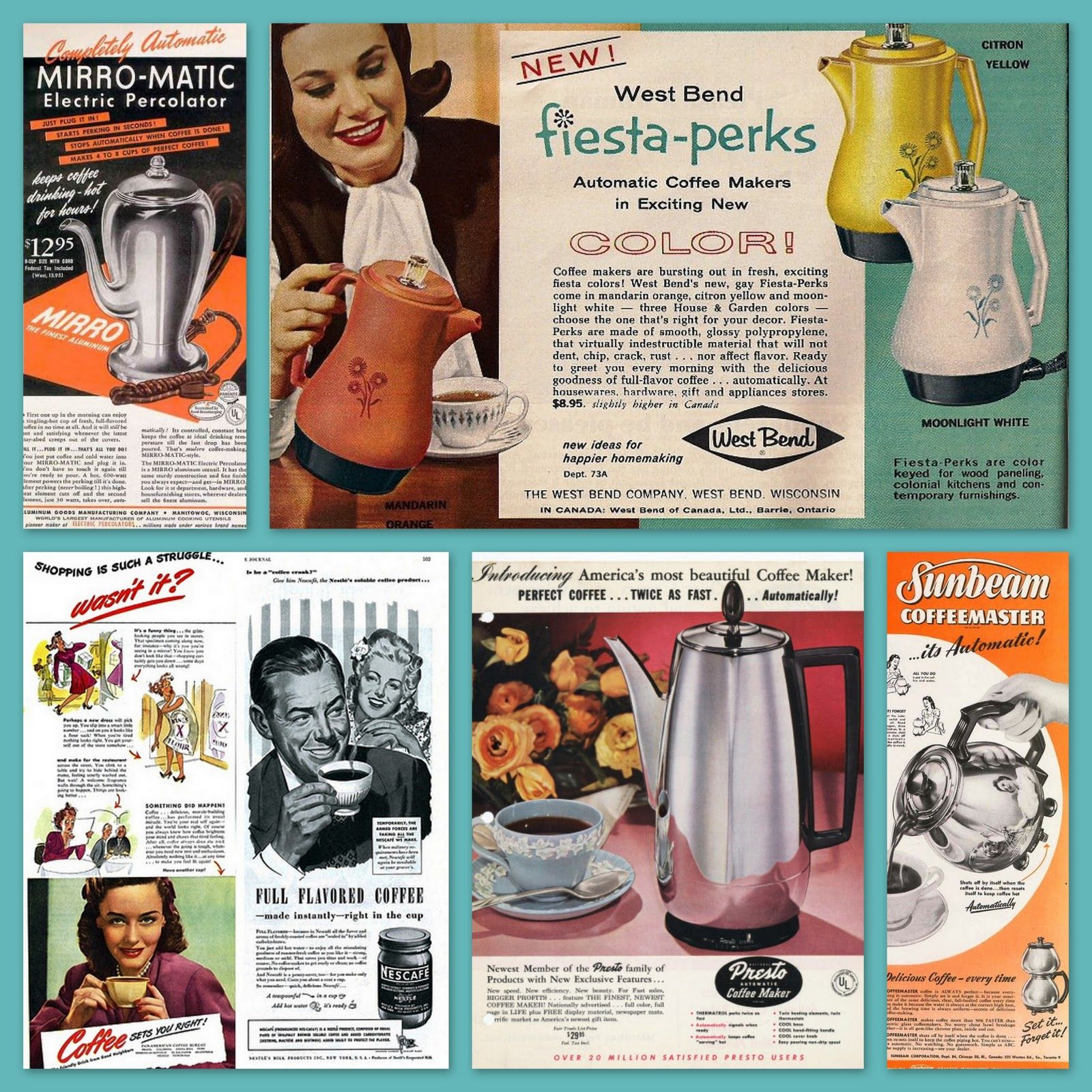 Do you remember these stylish electric coffee percolators?