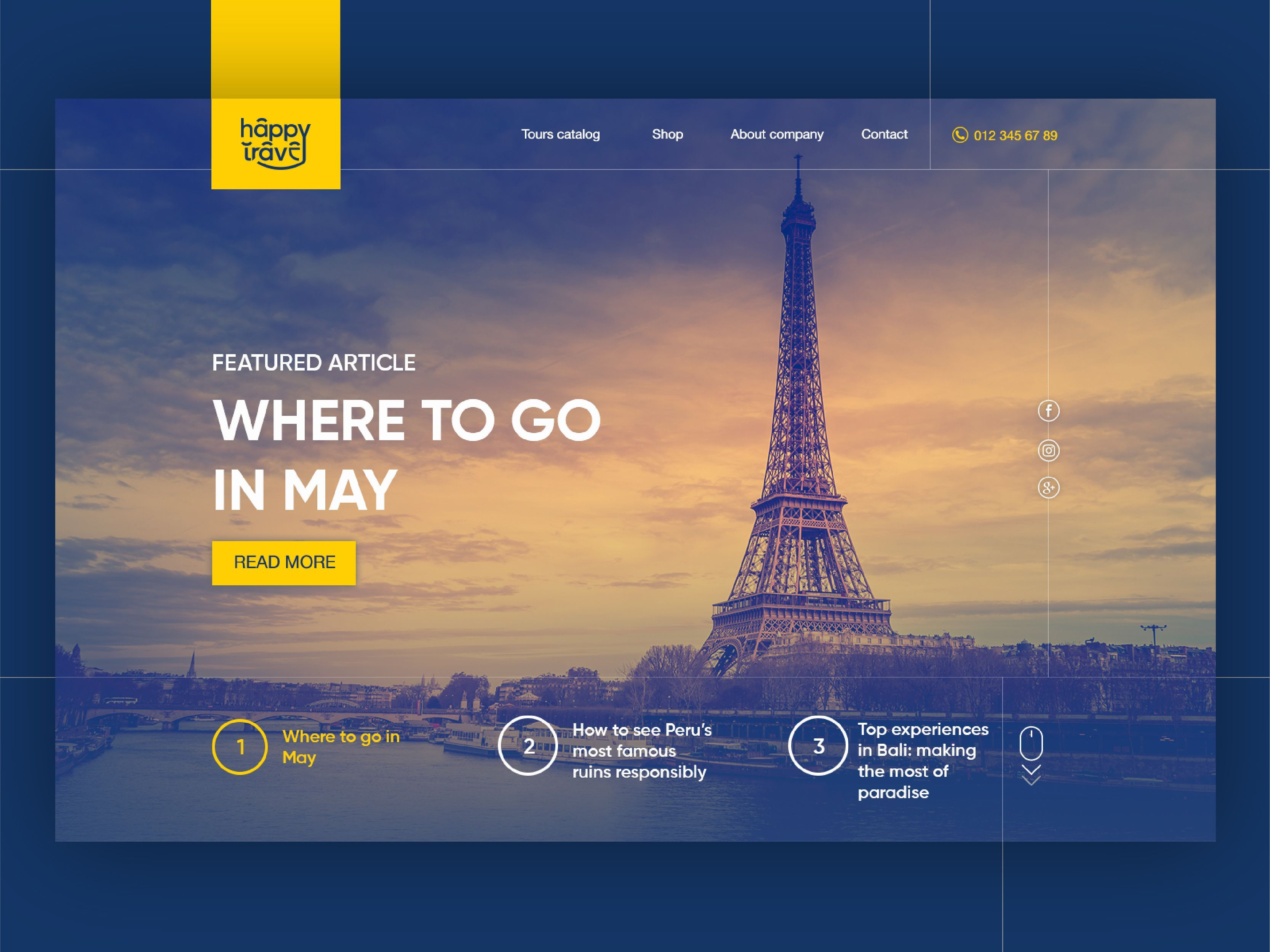 Landing Page For Happy Travel Tourism Agency Tourism Design Travel Website Design Travel And Tourism