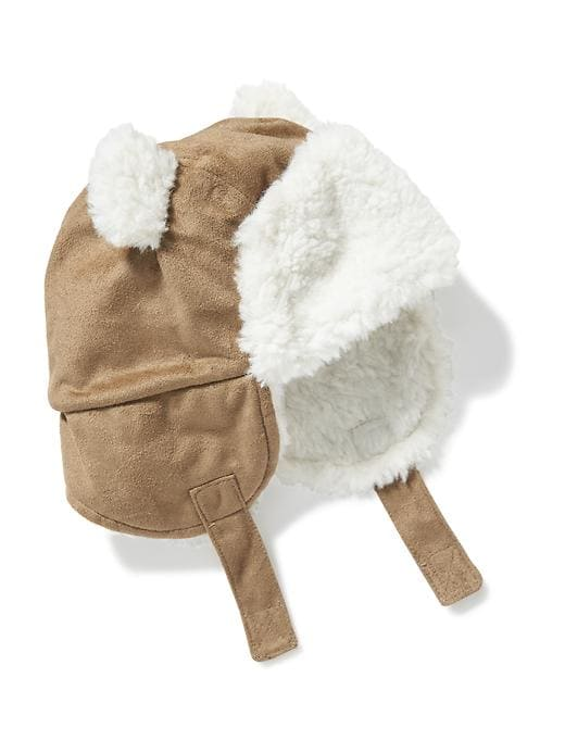 90457ac1c Old Navy Babies' Sherpa-Lined Trapper Hat Basswood Brown Regular ...