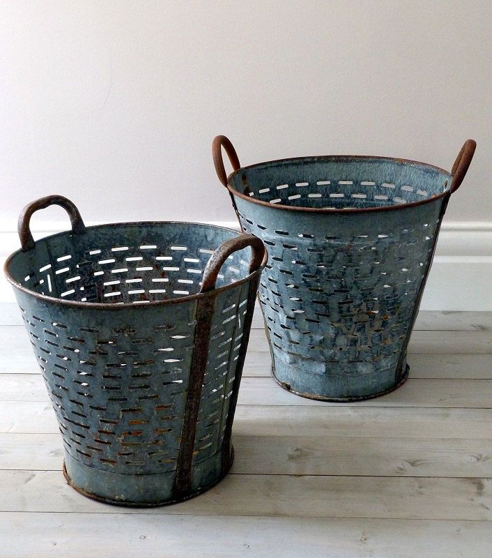 Vintage Industrial Vineyard / Grape Baskets Repinned by www.silver-and-grey.com