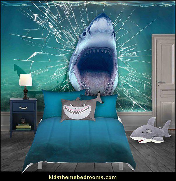 Shark Bedrooms Shark Murals Shark Bedding Shark Decor