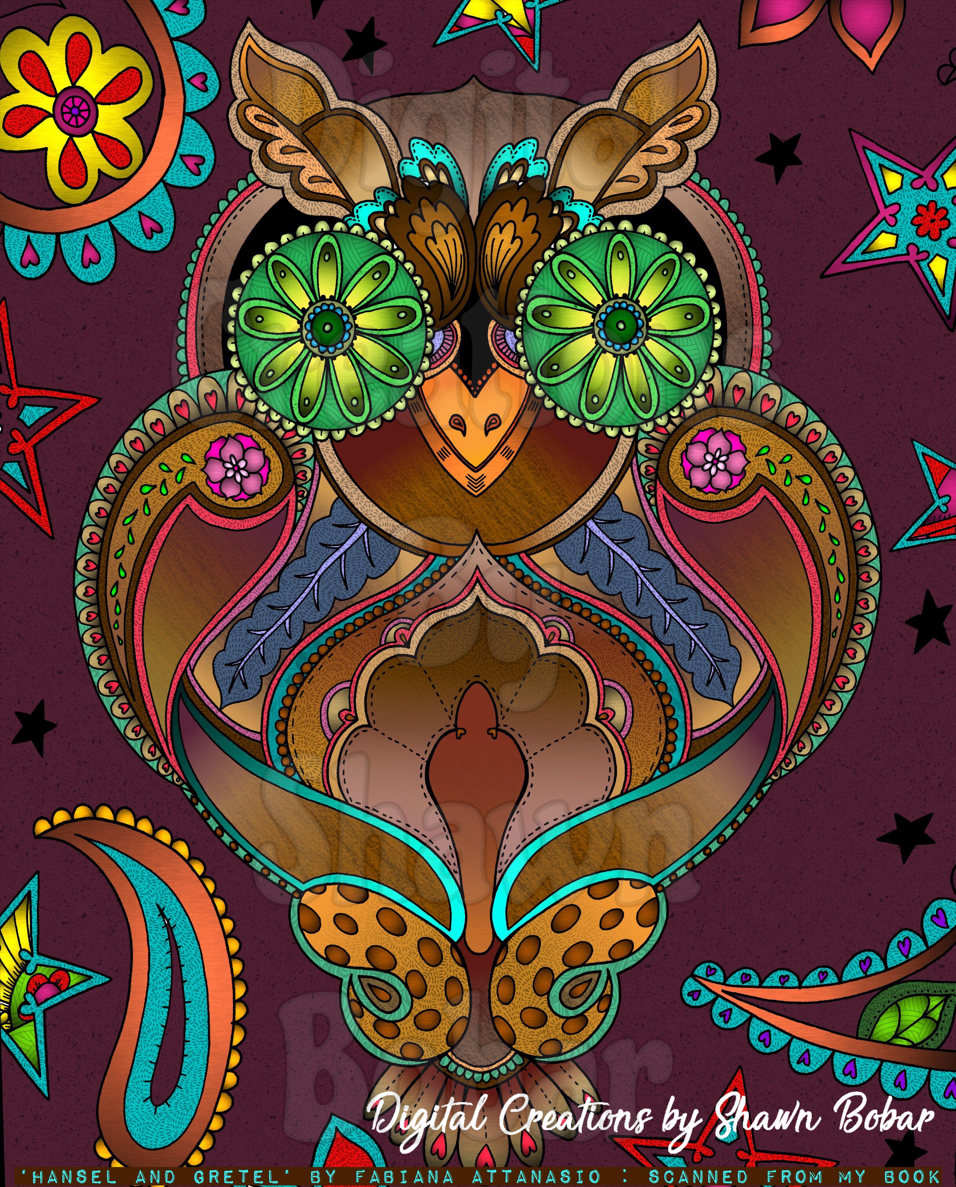 Artist Fabiana Attanasio Hansel And Gretel Digitally Colored Using Pigment IPad Pro Apple