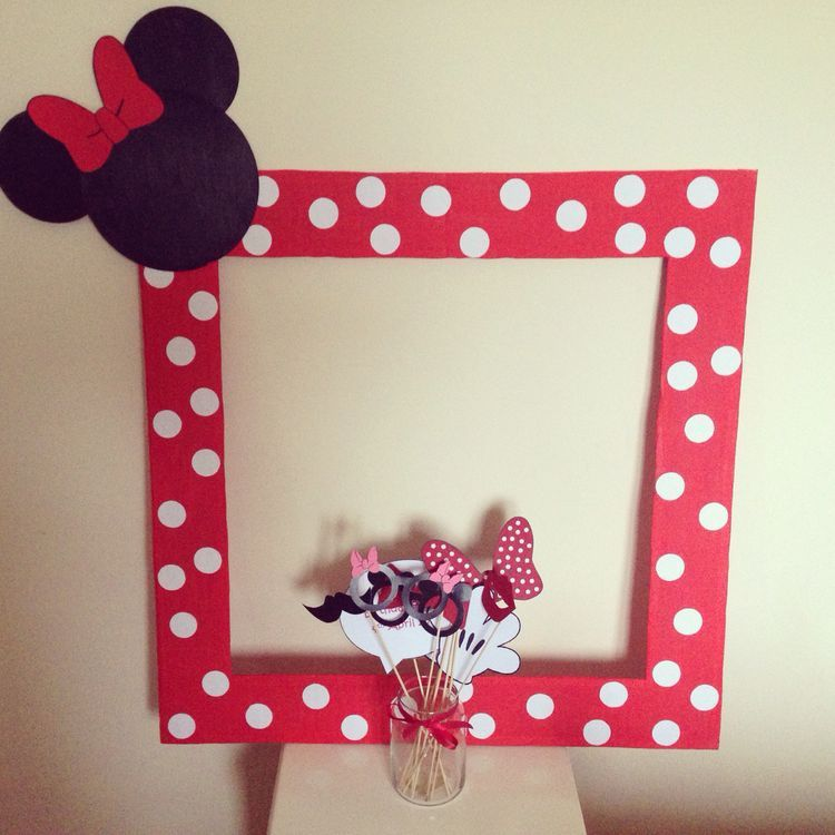 Minnie Mouse photo booth Clubhouse birthday party photo booth or photo prop decoration Pluto Daisy Minnie Mickey Donald Pink Minnie