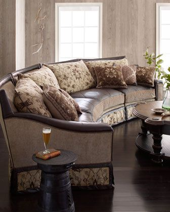 """""""Castillian"""" Sectional Sofa by Jeff Zimmerman Collection ..."""