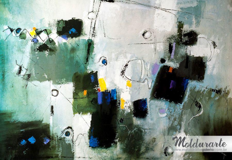 Gravura Abstrata. Artista: Cláudio Cori. Formato: 70 x 100 cm. Cod. 04089. Moldurarte Galeria. www.facebook.com/moldurartegaleria