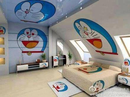 doraemon room doraemon kamar tidur anak perempuan on wall stickers stiker kamar tidur remaja id=78346
