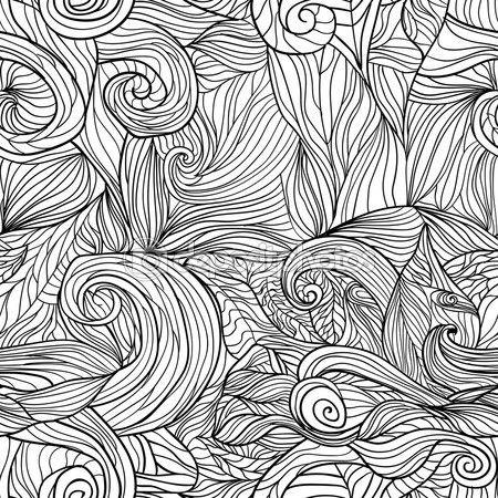 Seamless pattern with abstract feathers Vector 1 — Stock Illusztráció #76800227