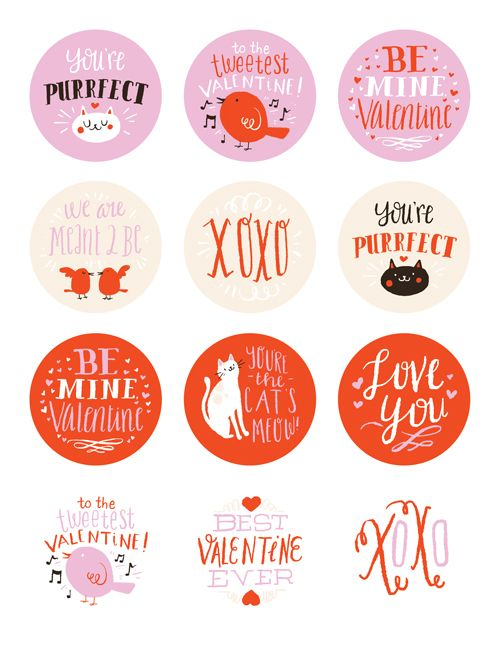 photo about Valentine Stickers Printable called no cost printable Valentines Working day stickers by way of Emma Trithart