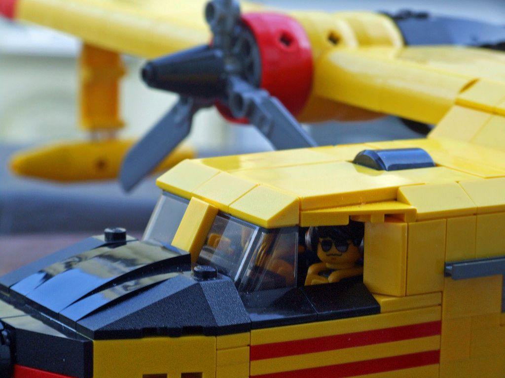 Canadair Cl 215 Pilots On Board Lego Plane Lego Toy Car