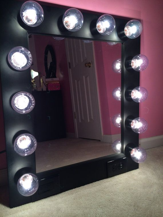 Free shipping vanity mirror with lights available built in digital vanity mirror with lights available built in digital led brightness control and power outlet just plug it from customvanity aloadofball Images