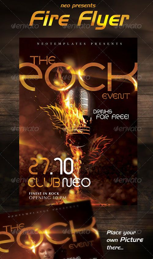 hot fire flyer poster template free club party psd flyer
