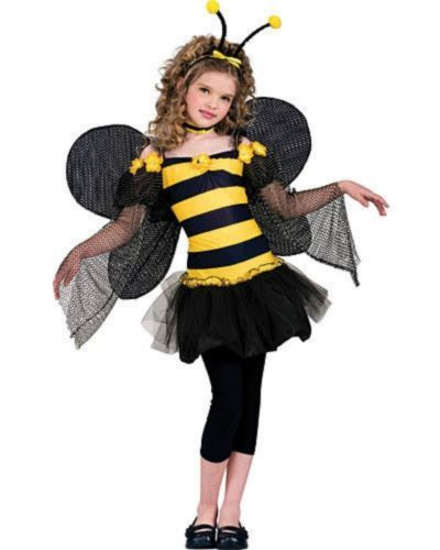 Details about Girls Cute Bumble Bee Costume Insect Animal