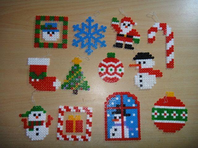 Christmas pyssla beads hamma beads pinterest adornos - Plantillas adornos navidenos ...