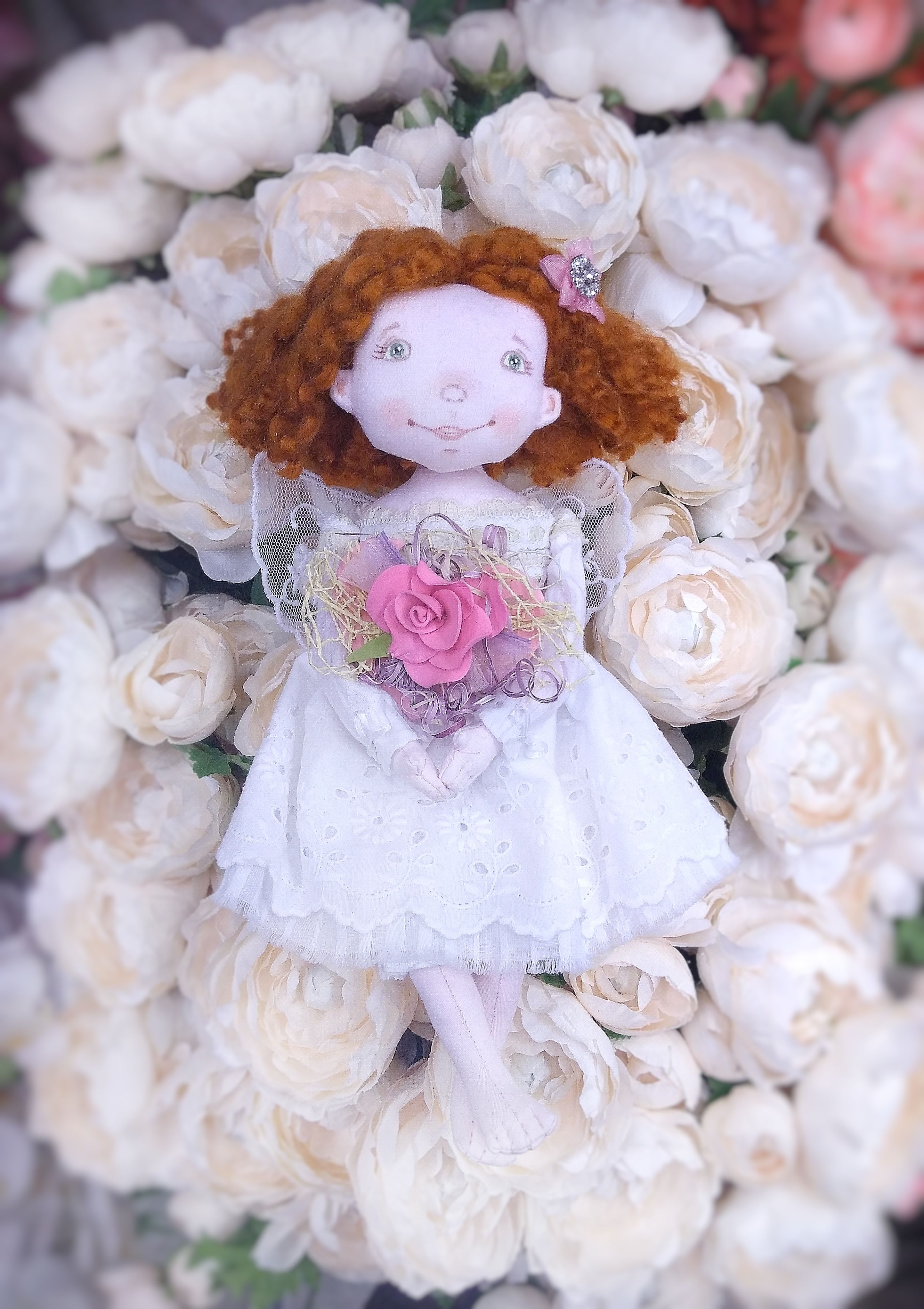 Little angel doll collectible angel nursery doll decor gift for little angel doll collectible angel nursery doll decor gift for mothers day cloth red hair toy fairytail gift i love you gift gardian angel negle Choice Image