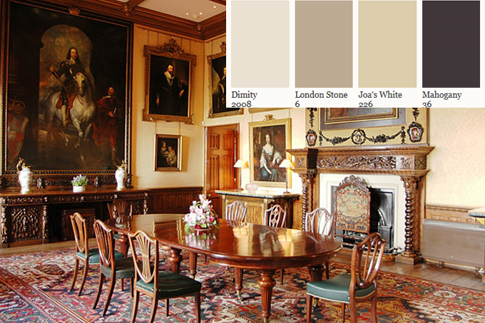 Paint Your Home The Colors of Downton Abbey 's Highclere Castle With Farrow and Ball   Kelly Moore