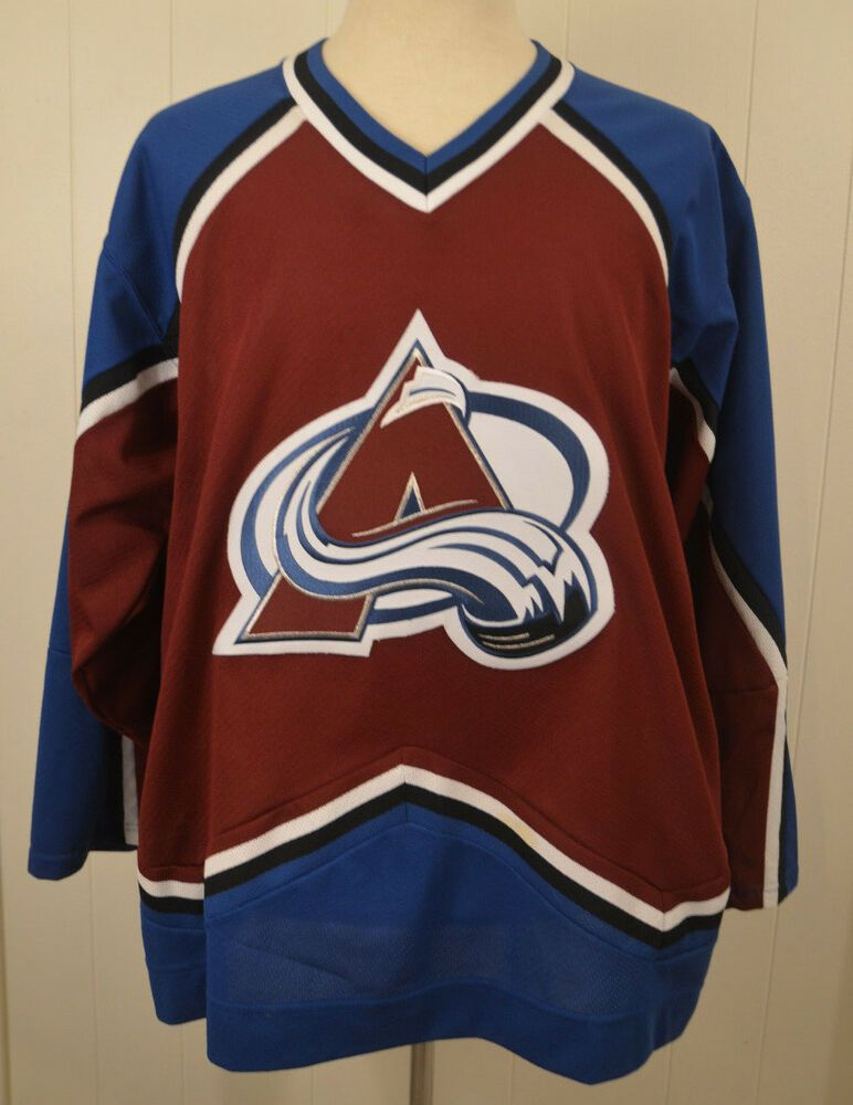 4579b762f67 CCM Colorado Avalanche NHL Hockey Jersey Sweater Adult Large stitched Sewn # CCM #ColoradoAvalanche