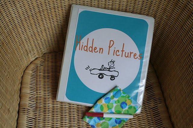 Really cute Hidden Pictures activity book DIY! Love!!