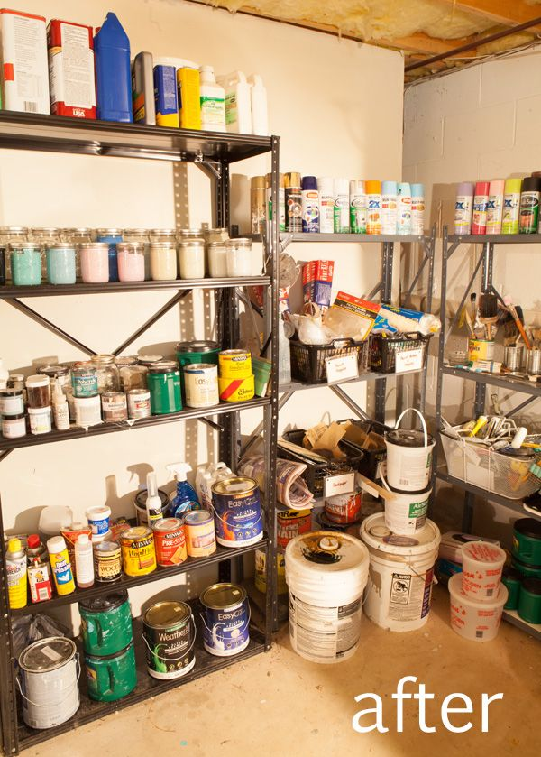 organized leftover paint · Garage OrganizationGarage StorageGarage IdeasPaint ... : paint can storage ideas  - Aquiesqueretaro.Com