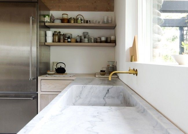 Marmeren keukenblad huis uitbouw moodboard