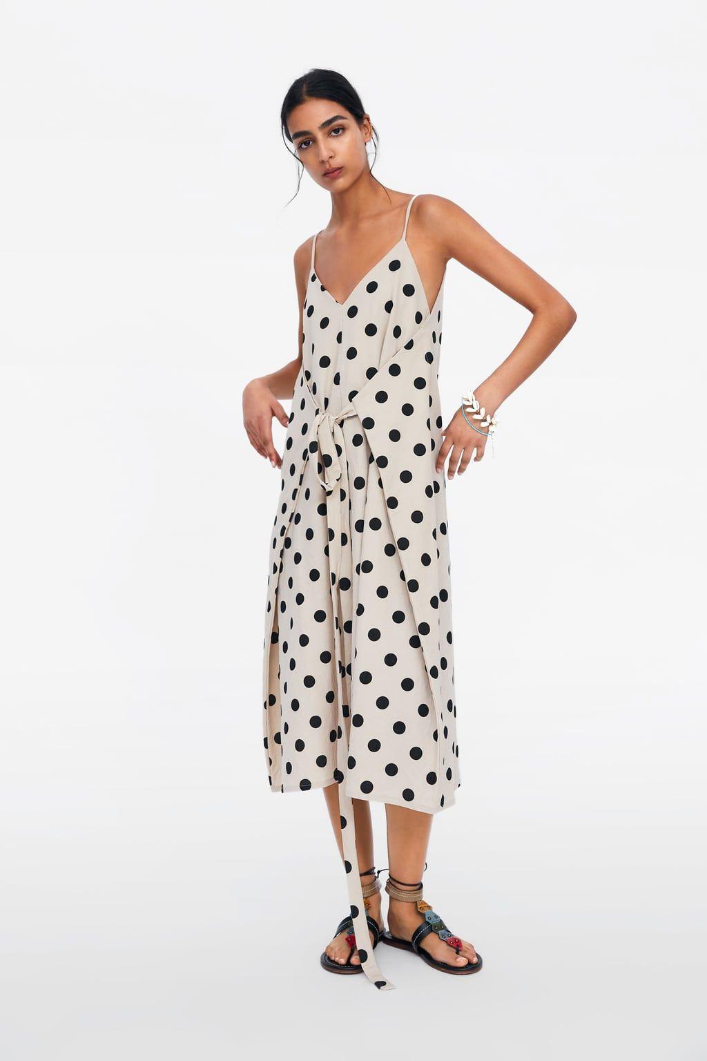 4977fdb5 Polka dot dress with belt in 2019   zara 2019   Belted dress, Dot ...