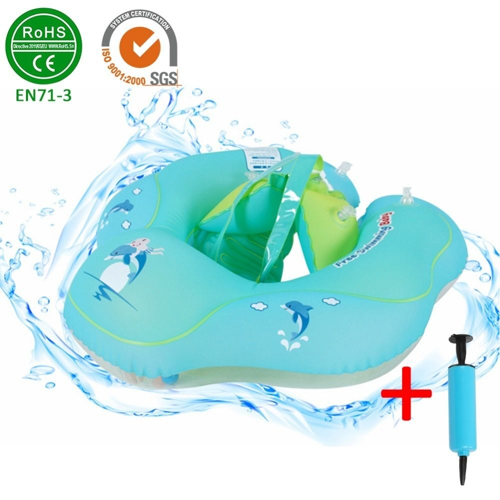 af12175a4e Infant Safety Inflation Swimming Ring Baby Kids Float Swimming Pool Toy for  Bathtub and Pools Swim Training Price: 31.99 & FREE Shipping  #computergadgets ...