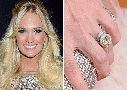 carrie underwoods canary yellow diamond ring celebrity