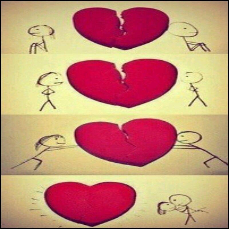 Happy New Year Mending A Broken Heart How To Fix A Broken Heart Love Drawings