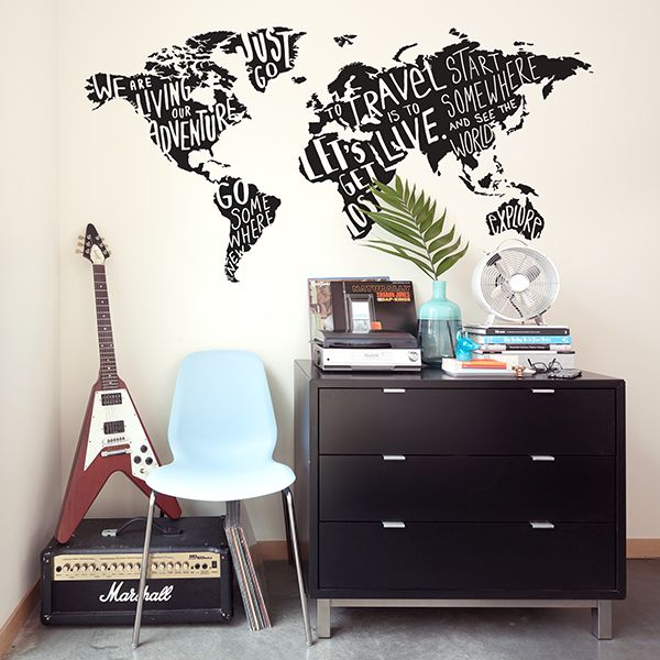 my type of world jumbo map wall decals paper riot