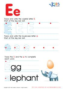 Abc Alphabet Worksheets Letter E Tracing Pdf Writing Pinterest