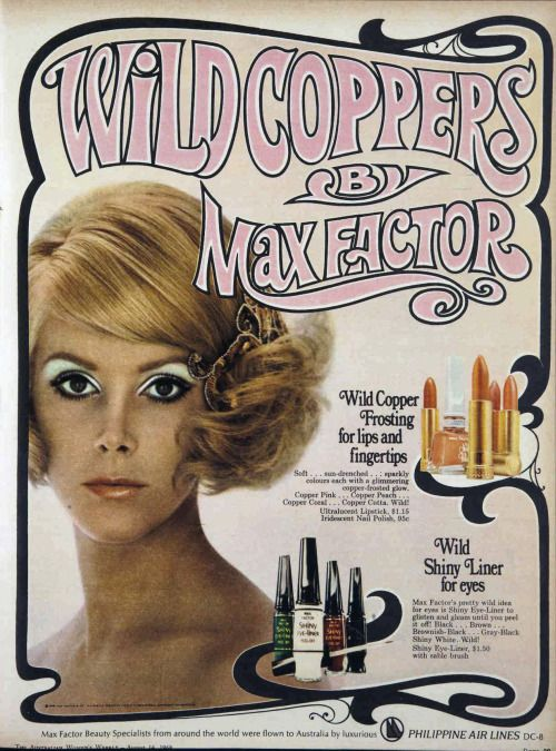 Wild Coppers By Max Factor 1968 Advertisement Vintage Makeup